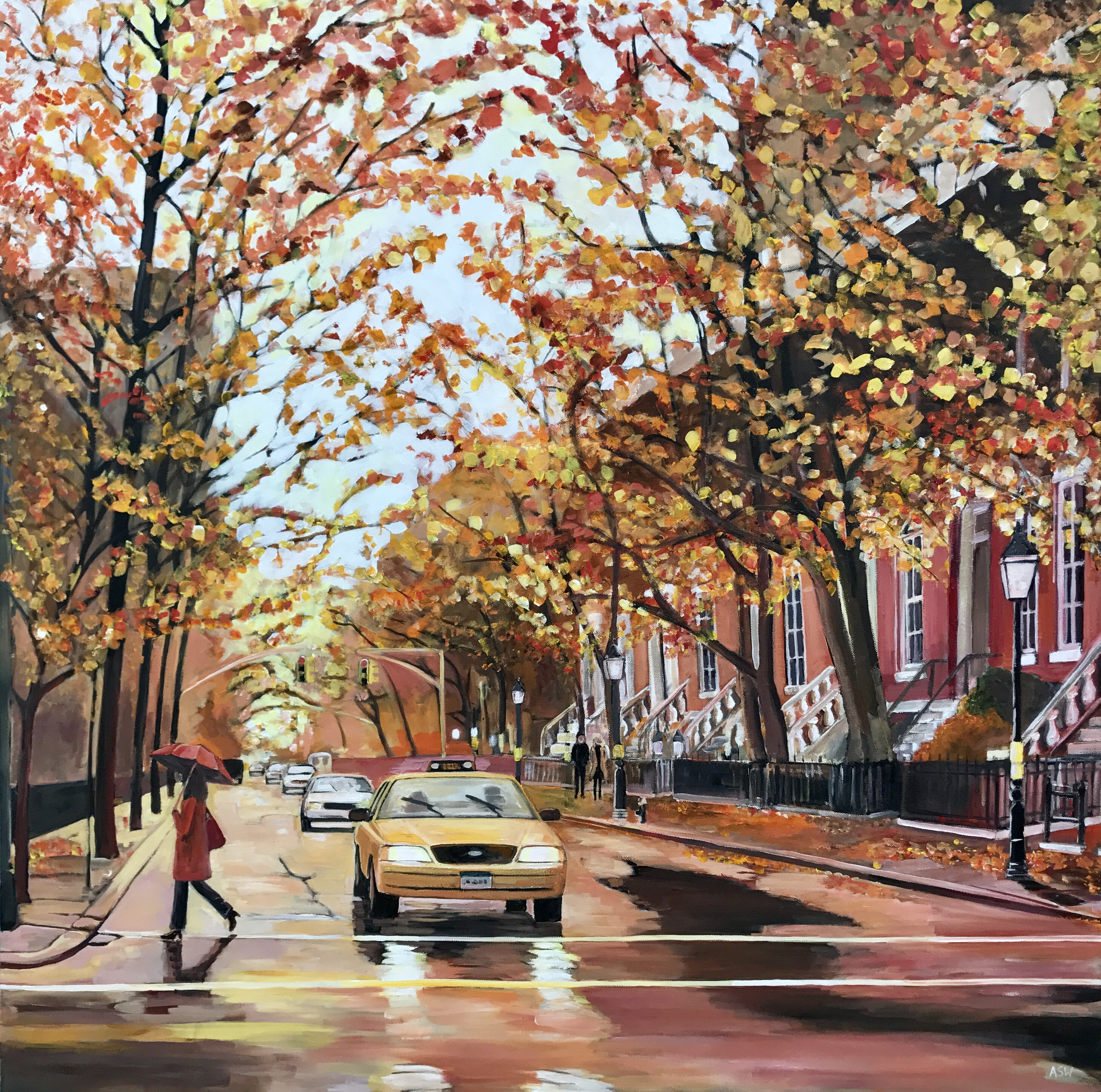 Fall In Nyc Wallpaper Paintings Of New York For Sale By Uk Cityscape Artist