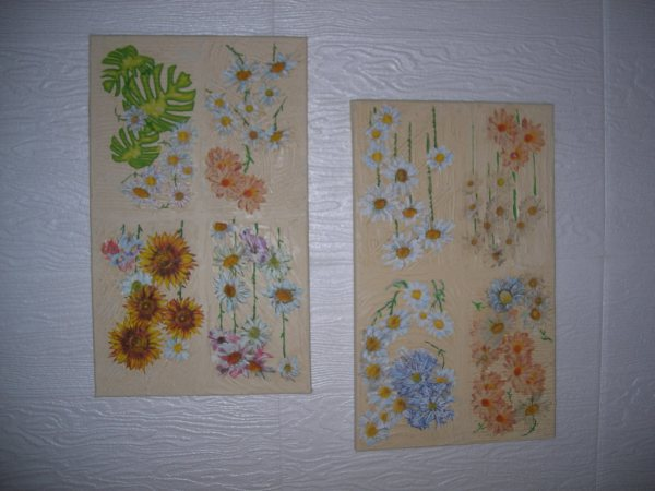 Cuadros de decoupage y flores