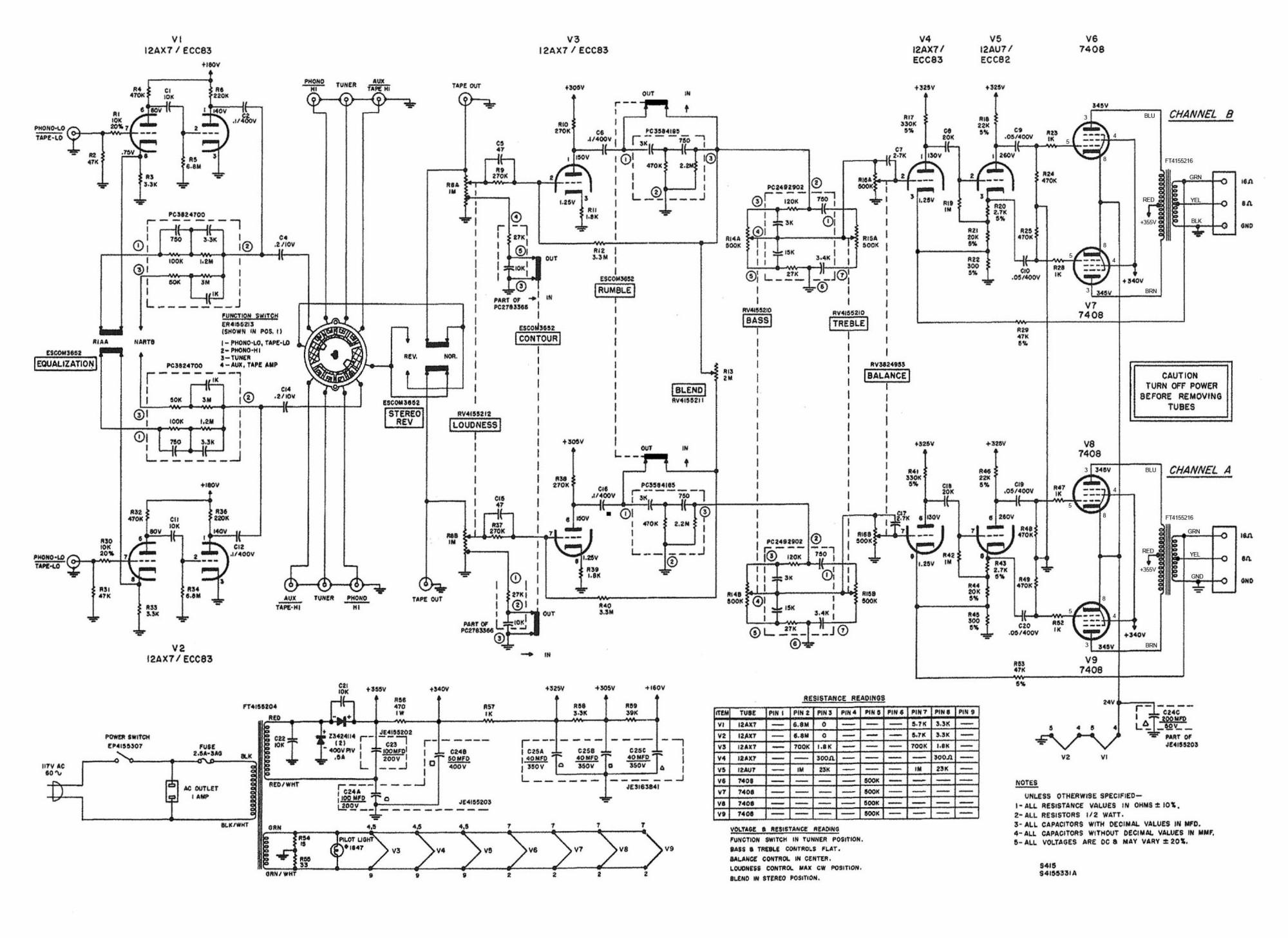 harman kardon amplifier wiring diagram