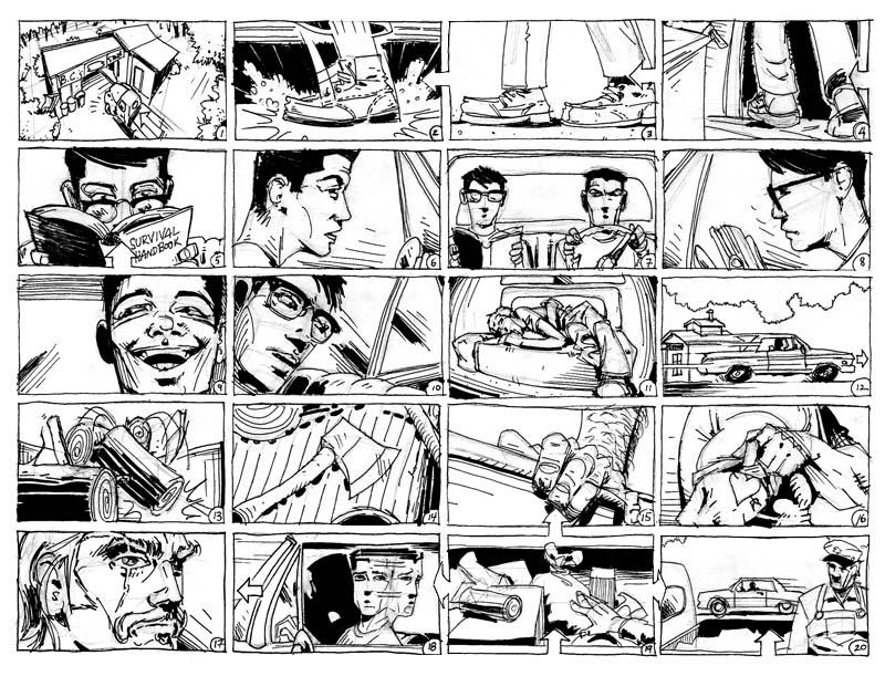 Alexis J Estévez - CV /Résumé, Storyboards and illustration