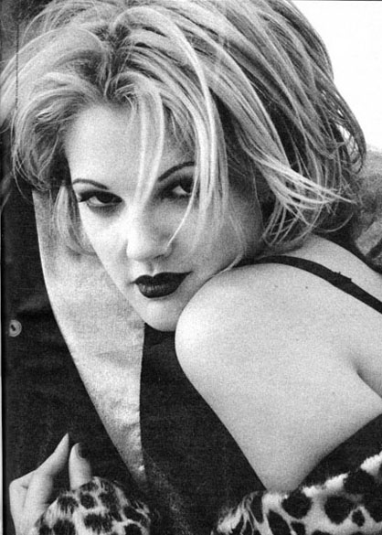 Drew Barrymore Black And White
