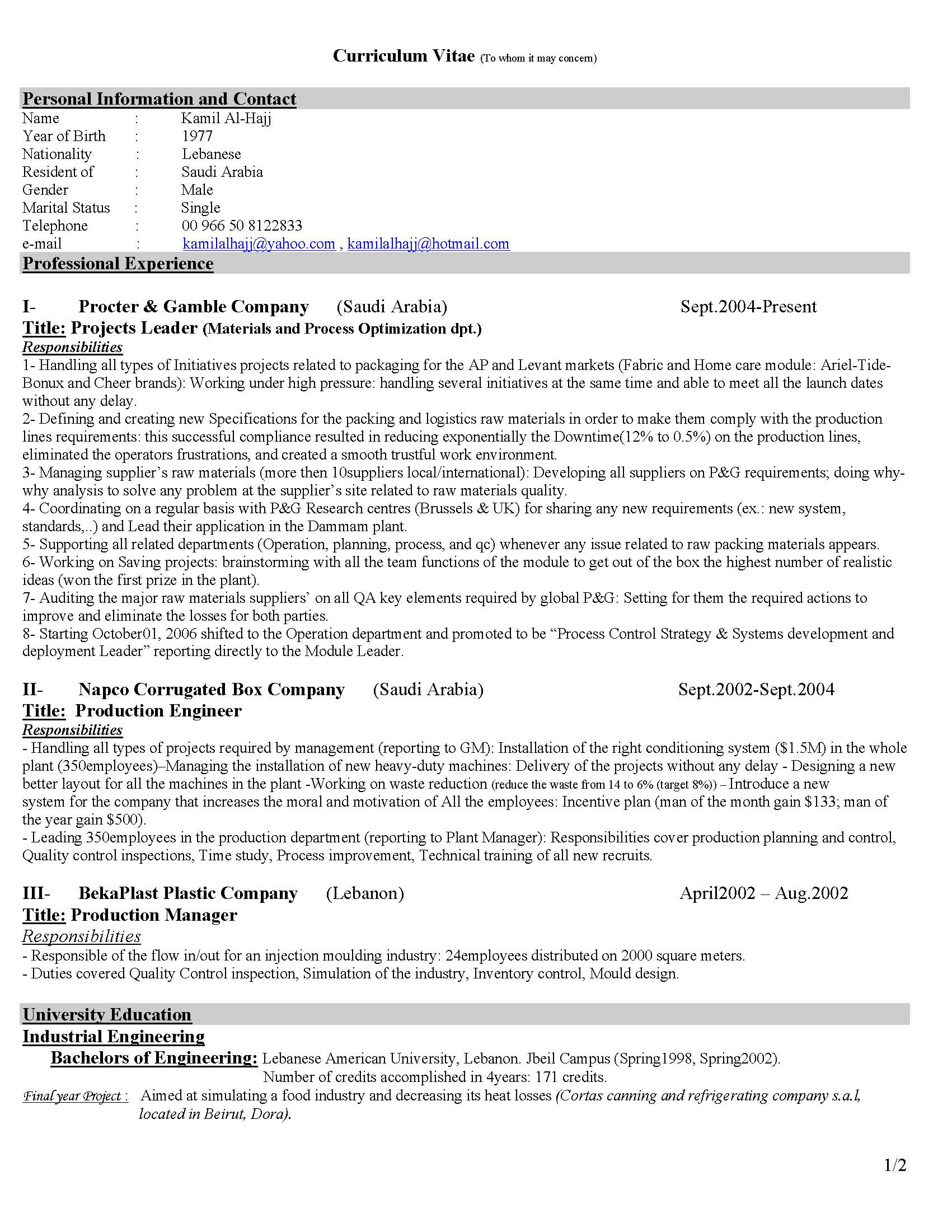 cv for industrial engineer professional resume cover letter sample cv for industrial engineer civil engineer cv sample civil engineer cv formats cv senior industrial engineer