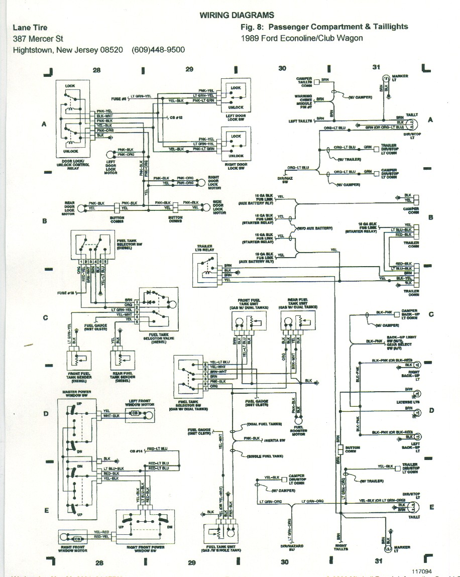 89 bronco power window wiring diagram