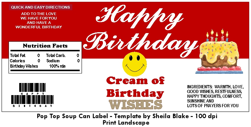 Soup Can Label Template Related Keywords  Suggestions - Soup Can