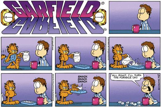 Cool Black Wallpaper Garfield 05