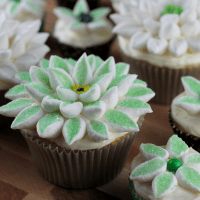Coconut & Marshmallow Flower Cupcakes