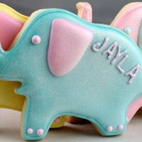 Pearly Elephant Sugar Cookies