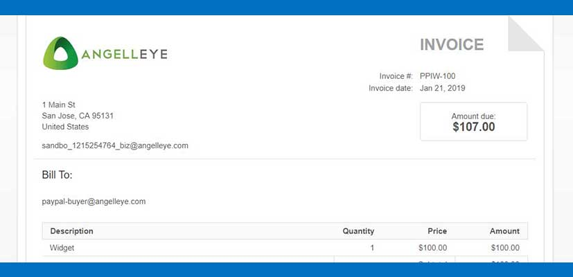 Create an Invoice On PayPal - AngellEYE