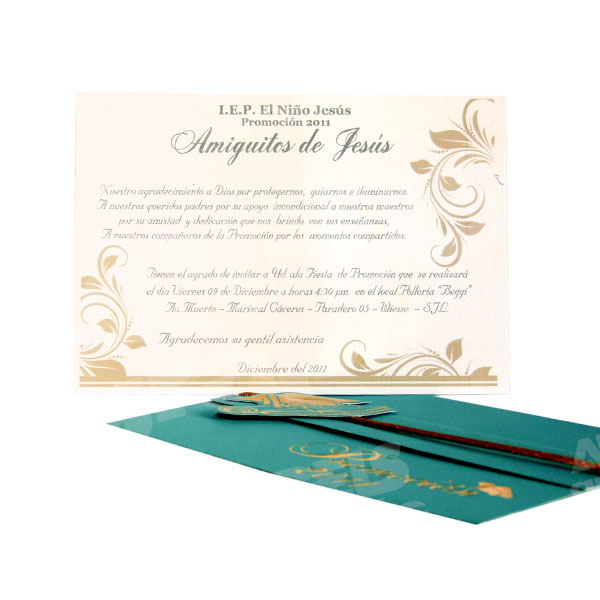 Tarjeta de Promoción / Graduación (fp-116) - Angels Graphic