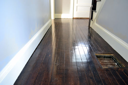 Refinished Hallway Floor