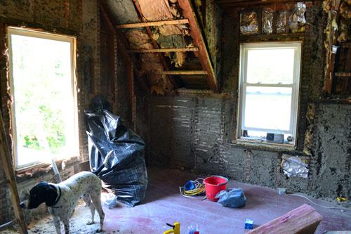 Demolished Master Bedroom