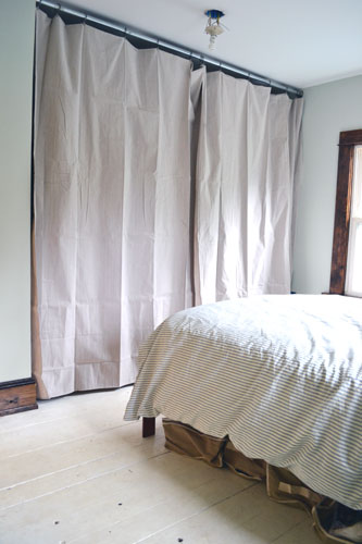 Drop Cloth Curtains For Closet