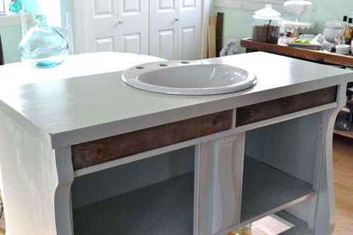 Vanity Hacking How To Convert A Buffet Into A Bathroom Vanity Angie 39 S Roost
