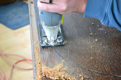 how to cut out hole for sink in plywood