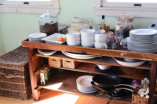 Kitchen Buffet Post Pantry Organizing