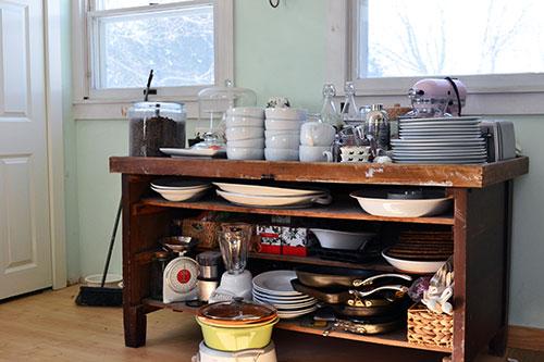 Kitchen Buffet Pre Pantry Organizing