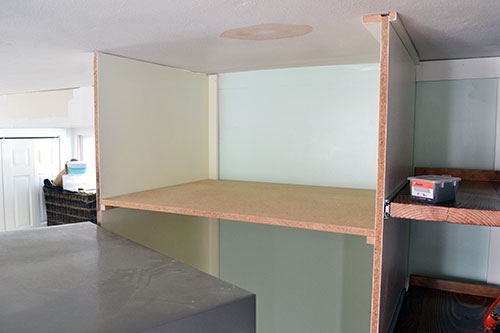 Particle Board Microwave Shelf