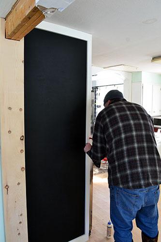 Installing Chalkboard Wall Trim