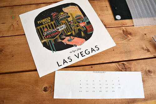 Chopping Up A Calendar To Use As Art
