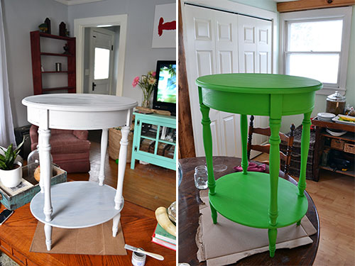 Painting Nightstands In Annie Sloan Antibes Green