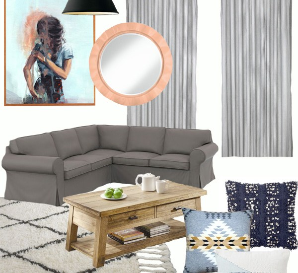 Rustic Neutral And Muddy Living Room Mood Board