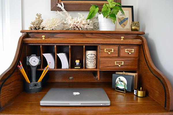 Organizing A Vintage Rolltop Desk
