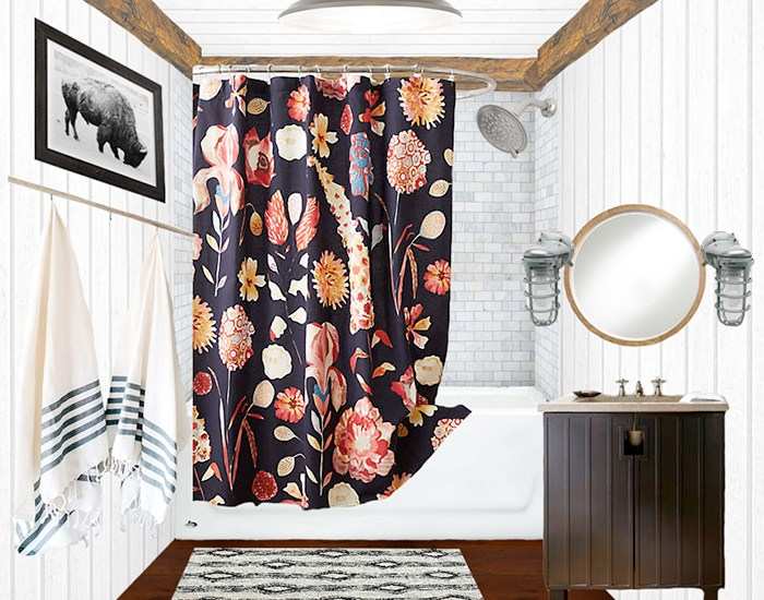 A Photoshopped version of our guest bathroom plan and remodel
