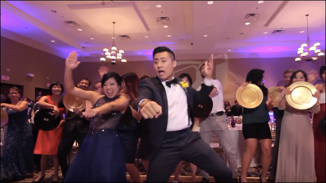 Watch this couple\u0027s epic one-take wedding music video - wedding music for reception