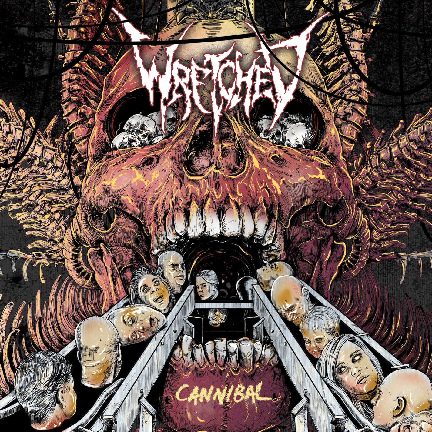Blood Falling Wallpaper Wretched Cannibal Review Angry Metal Guy