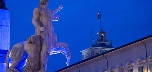 Quirinale statua blu 2016 Foto