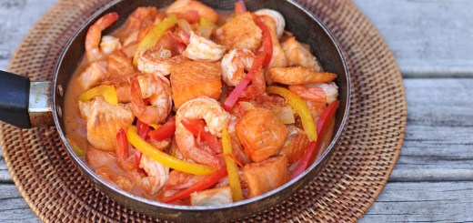 Salmon and Shrimp Diablo