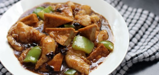 Fish in Black Bean Sauce Wide