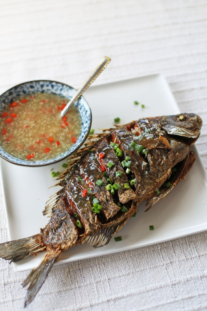 Crispy fried fish in ginger garlic sauce ang sarap for Whole foods fish sauce
