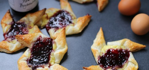 Boysenberry and Custard Danish Wide