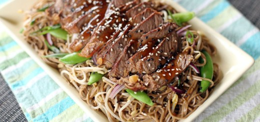 Teriyaki Steak Soba Wide