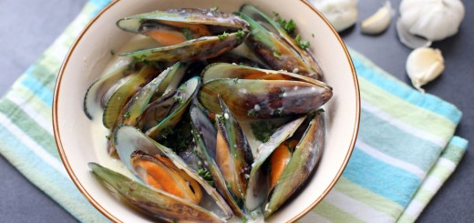 Garlic and Herb Mussels Wide