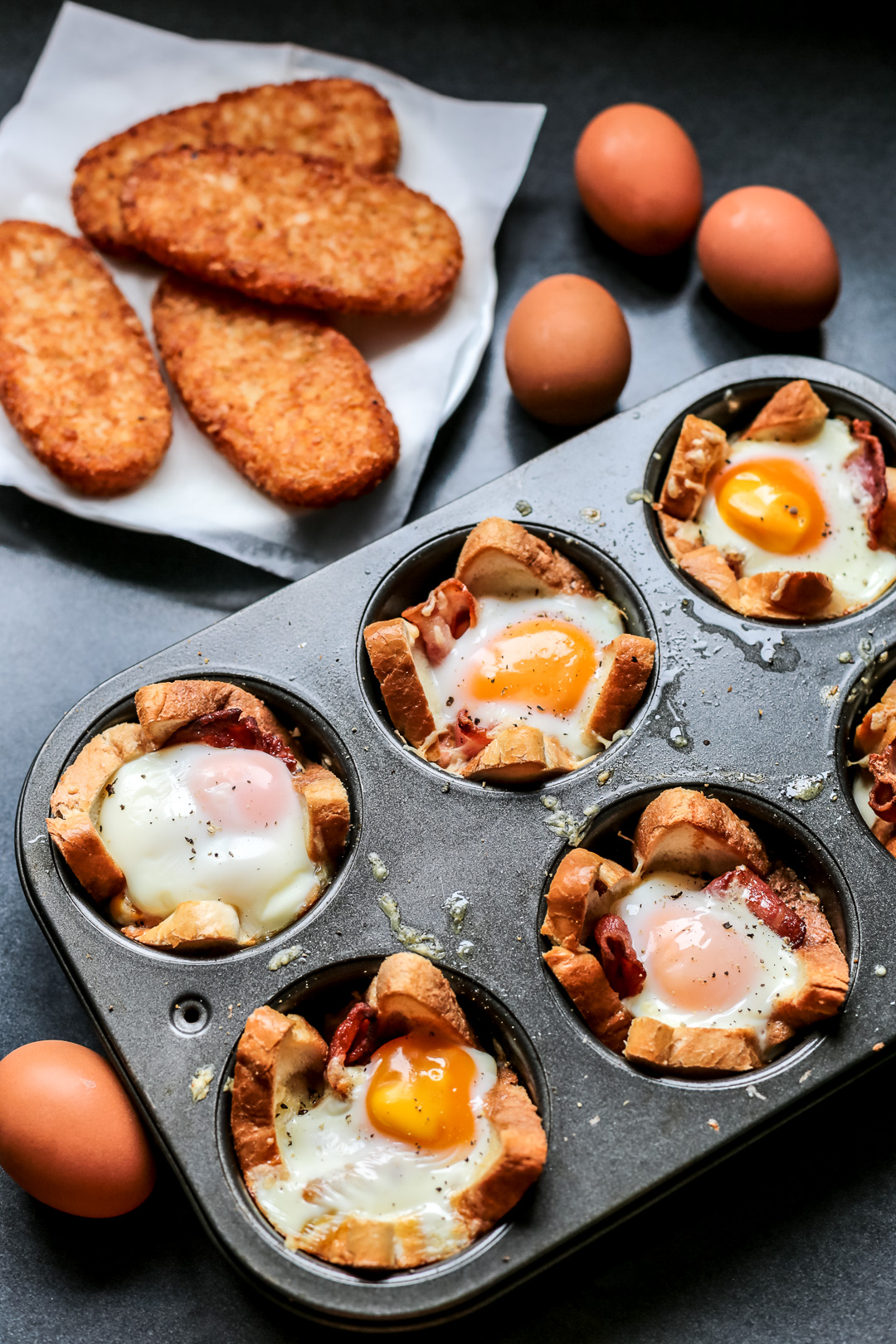 Bacon, Egg, and Toast Cups - Ang Sarap