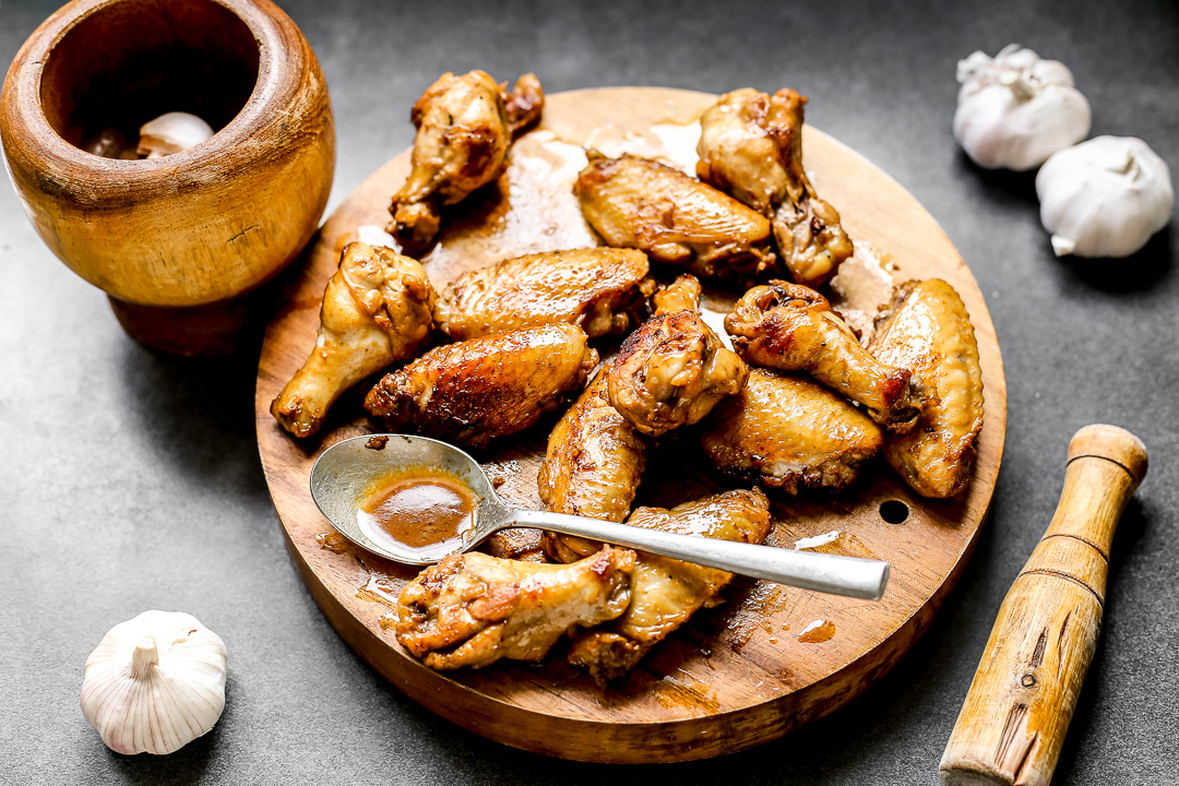 Adobo Sauce Glazed Chicken Wings