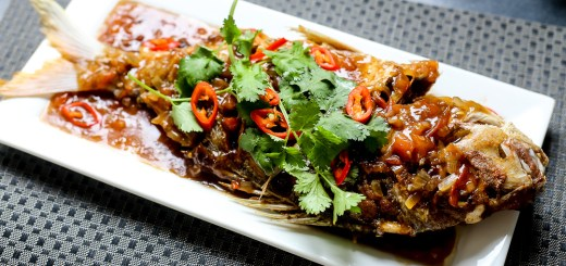 Fried Snapper in Tamarind Sauce Wide