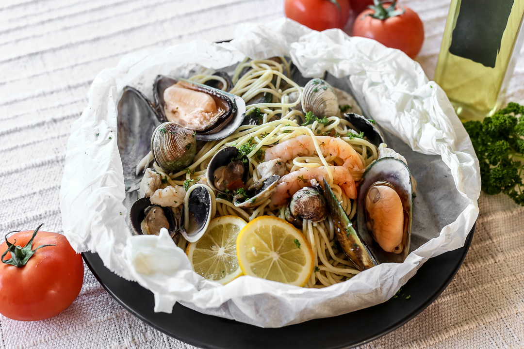 Seafood Pasta al Cartoccio
