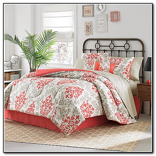Coral Colored Bedding Sets Beds Home Design Ideas