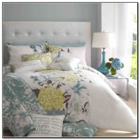 Yellow Blue And Grey Bedding