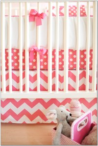 Chevron Crib Bedding Girl Download Page  Home Design ...