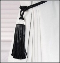 White Rope Curtain Tie Backs - Curtains : Home Design ...
