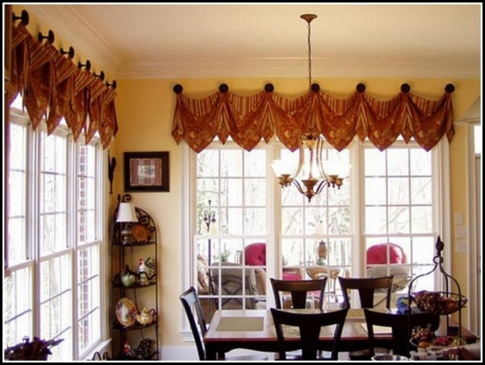 Large Kitchen Window Curtain Ideas