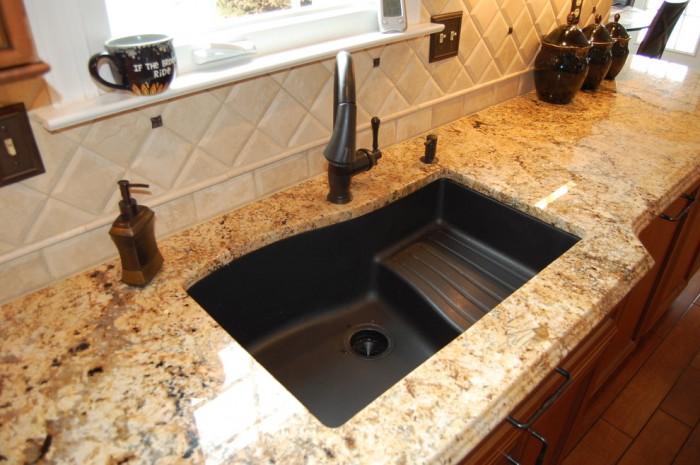 Crushed Granite Sink Cleaning Bathroom Home Design