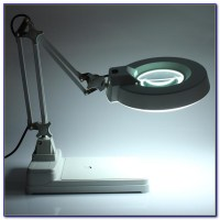 Desktop Lamp With Magnifying Glass