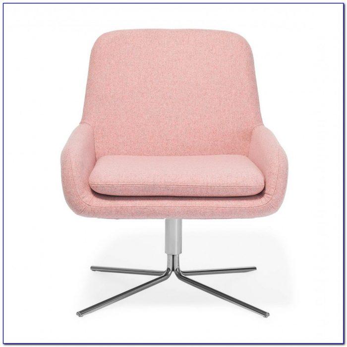 White Wooden Swivel Desk Chair