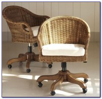 Rattan Desk Chair Swivel - Desk : Home Design Ideas # ...