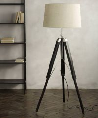 Photographers Tripod Floor Lamp Antique Nickel Finish